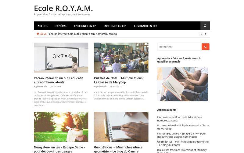 Ecole R.O.Y.A.M. - Apprendre, former et apprendre à se former